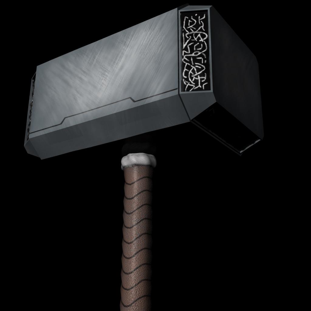 thor 39 s hammer mjolnir 3d model
