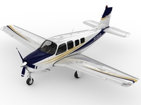 Beechcraft Bonanza G36 3D Model