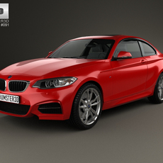 BMW 2 Series coupe 2014 3D Model