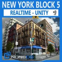 NYC Block – #5 Unity 3D Model