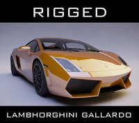 lamborghini gallardo rigged 3D Model