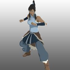 Avatar Korra 3D Model