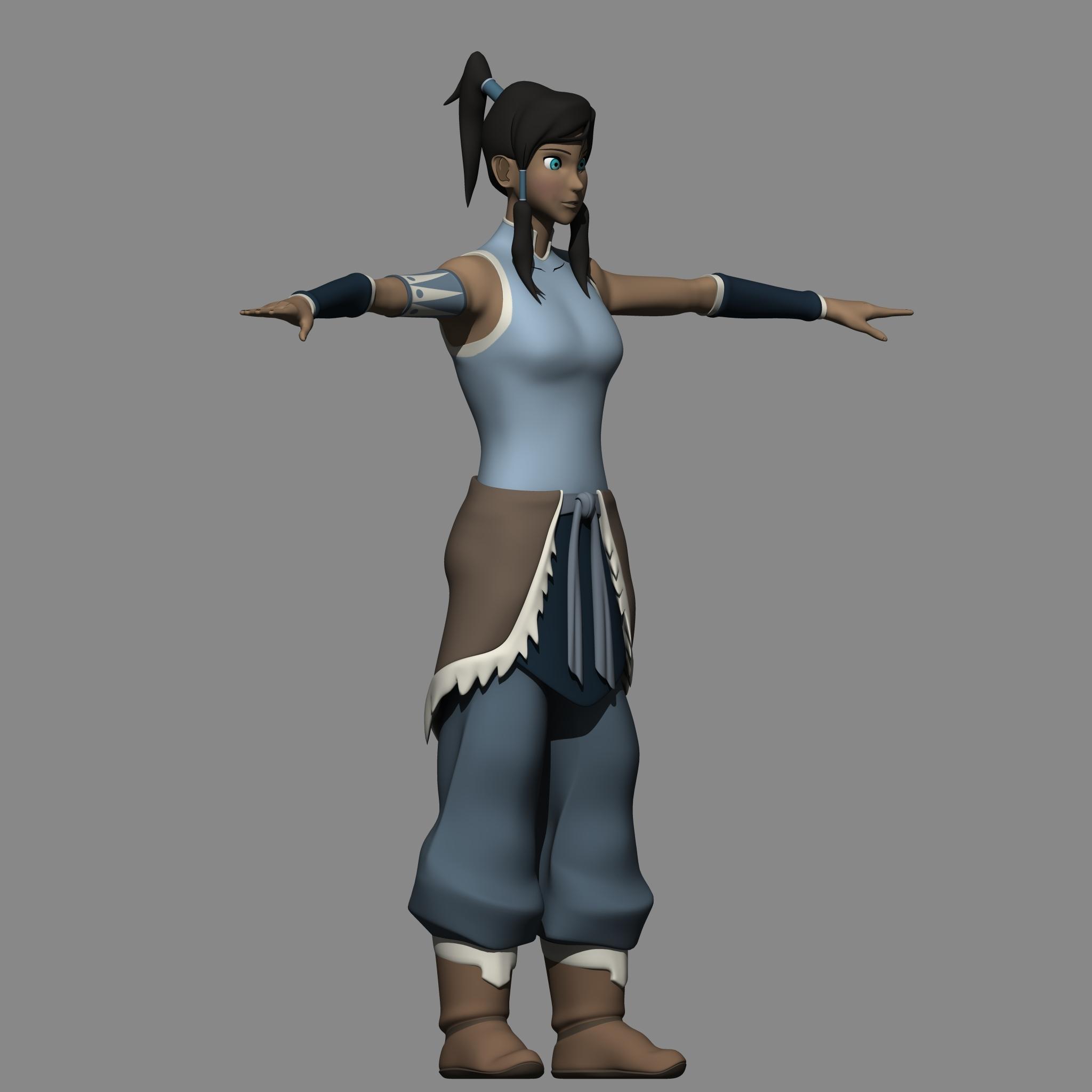 Avatar 2 2014: Avatar Korra 3D Model