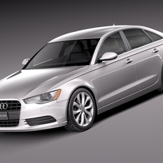 Audi A6 sedan USA 2012-2015 3D Model