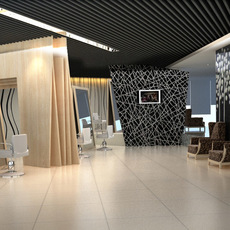 Hairdressing salon room 001 3D Model