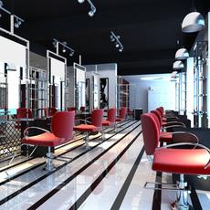 Hairdressing salon room 002 3D Model