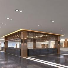 Library Sence 001 3D Model