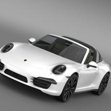 Porsche 911 Targa 4s 2014 3D Model