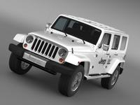 Jeep Wrangler Electric Vehicle Concept 3D Model