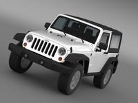 Jeep Wrangler Rubicon 2007 3D Model