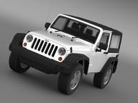 Jeep Wrangler UK Sport 2008 3D Model