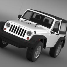 Jeep Wrangler UK Sport 2008 3D Model