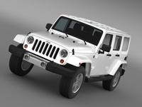 Jeep Wrangler Unlimited 2011 3D Model