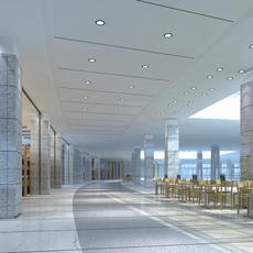 Library Sence 002 3D Model