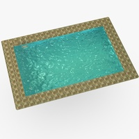 Low poly swimming pool 3D Model