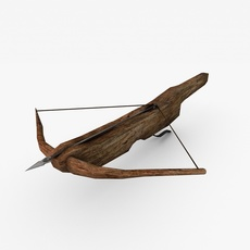 Low poly crossbow 3D Model