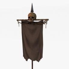 Skull banner 3D Model