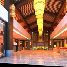 Lobby Sence 042 3D Model