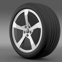 Audi R8 e tron Concept 2013 wheel 3D Model
