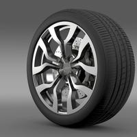 Audi R8 V10 Spyder 2013 wheel 3D Model