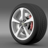 Chevrolet Camaro Convertible 2014 wheel 3D Model