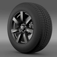 Jeep Wrangler Anlimited Altitude 2014 wheel 3D Model