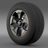 Jeep Wrangler Dragon Edition 2014 wheel 3D Model
