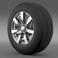 Jeep Wrangler Indian Summer 2014 wheel 3D Model
