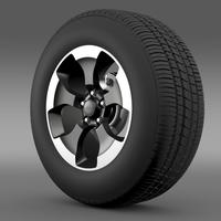 Jeep Wrangler Polar 2014 wheel 3D Model