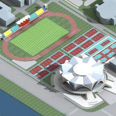 Grand Stadium 010 3D Model