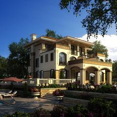 3d Villa 005 3D Model