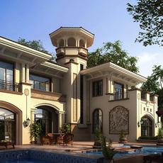 3d Villa 006 3D Model
