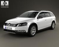 Volkswagen Passat (B7) Alltrack 2011 3D Model