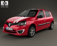 Renault Clio Mercosur 5-door hatchback 2013 3D Model