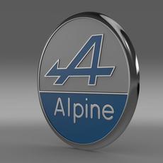 Alpine logo 3D Model