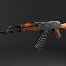 AK-47 Kalashnikov 3D Model