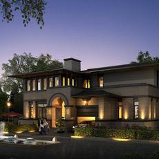 3d Villa 023 3D Model