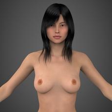 Realistic Beautiful Girl 3D Model