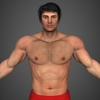 Realistic Bodybuilder Man 3D Model