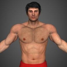 Realistic Bodybuilder Man 3D Model