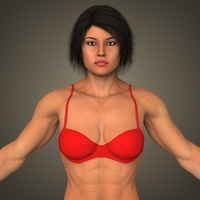 Realistic Bodybuilder Woman 3D Model