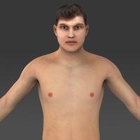 Realistic Young Man 3D Model