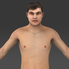 Realistic Young Man 3D Model