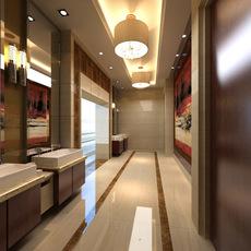Public toilets 001 3D Model
