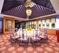 Restaurant 022 3D Model