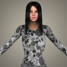 Realistic Young Sexy Girl 3D Model
