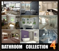 Bathrooms collection 4 3D Model
