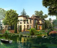 3d Villa 091 3D Model