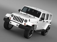 Jeep Wrangler Unlimited Altitude 2012 3D Model