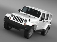 Jeep Wrangler Unlimited Sahara EU spec 2011 3D Model